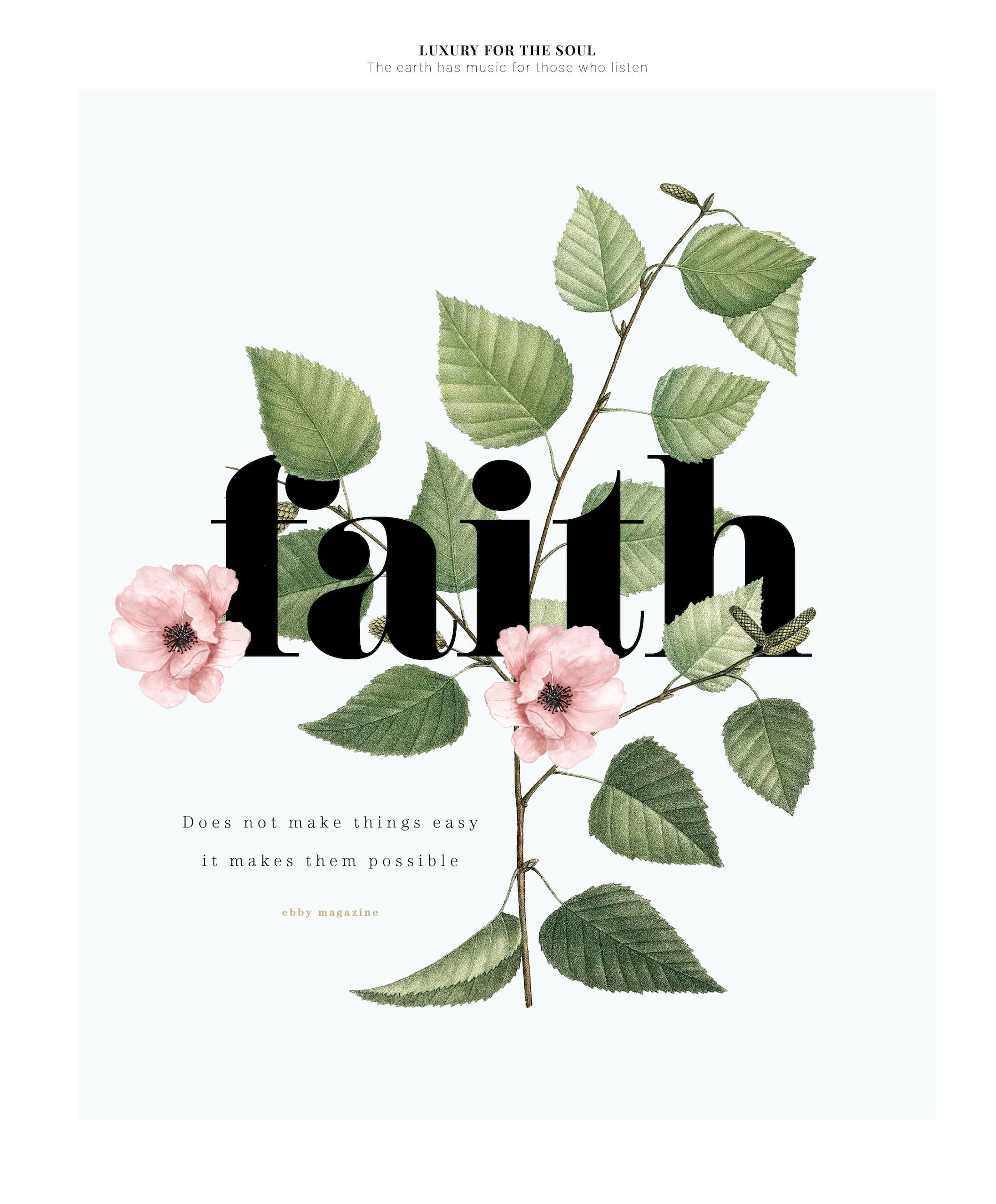 Luxury for the soul / Faith